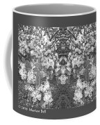 Waxleaf Privet Blooms In Black And White Abstract Poster Coffee Mug
