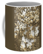 Waxleaf Privet Blooms On A Sunny Day In Sepia Tones Coffee Mug
