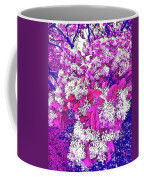 Waxleaf Privet Blooms On A Sunny Day With Magenta Hue Coffee Mug