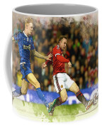 Wayne Rooney Of Manchester United Scores Coffee Mug