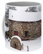 Wayside Inn Grist Mill Covered In Snow Millstone Coffee Mug