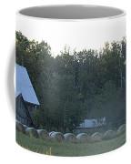 Weathered Barn And Hay Bales  Coffee Mug