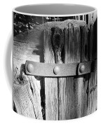 Weathered Fence In Black And White Coffee Mug