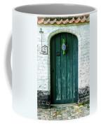 Weathered Green Door Coffee Mug