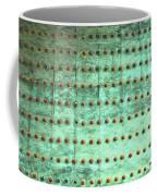 Weathered Metal Rivets With Green Patina Coffee Mug