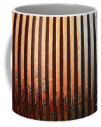 Weathered Metal With Rows Coffee Mug
