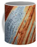 Weathered Metal With Stripes Coffee Mug