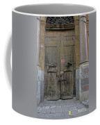 Weathered Old Door On A Building In Palermo Sicily Coffee Mug