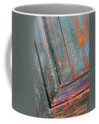 Weathered Orange And Turquoise Door Coffee Mug