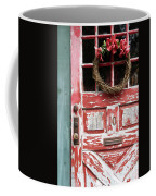 Weathered Red Door 3 Coffee Mug