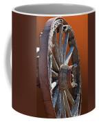 Weathered Wagon Wheel  Coffee Mug