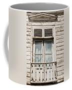 Weathered Window Balcony Coffee Mug