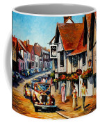Wedding Day In Lavenham-suffolk-england - Palette Knife Oil Painting On Canvas By Leonid Afremov Coffee Mug