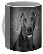 Weimaraner In Black And White Coffee Mug