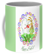 Welcome Spring. Rabbit And Flowers Coffee Mug