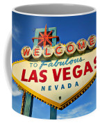 Welcome To Las Vegas Sign Coffee Mug by Garry Gay