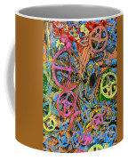 Welcome To The Machine Pink Orange Coffee Mug
