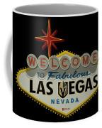 Welcome To Vegas Knights Sign Digital Drawing Coffee Mug