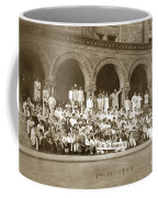 We're Up Against It,students On Steeps Of Encina Hall At Stanford University April 18,1907 Coffee Mug