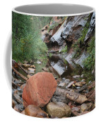 West Fork Trail River And Rock Horizontal Coffee Mug