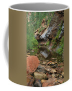 West Fork Trail River And Rock Vertical Coffee Mug