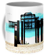 West Pier Graphic Coffee Mug by Chris Lord