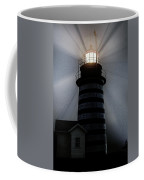 West Quoddy Head Lighthouse Aglow In Silhouette Coffee Mug