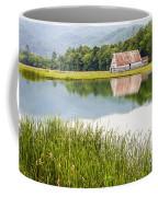 West Virginia Barn Reflected In Pond   Coffee Mug