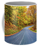 West Virginia Curves - In A Yellow Wood - Paint Coffee Mug