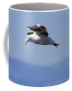 Western Gulls Larus Occidentalis Flying Coffee Mug