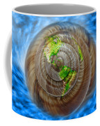 Western Hemisphere On A Seashell Coffee Mug