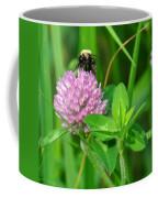 Western Honey Bee On Clover Flower Coffee Mug