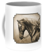 Western Horse Painting In Sepia Coffee Mug