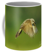 Western Kingbird Hovering Coffee Mug
