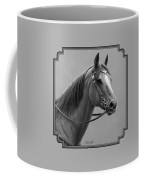 Western Quarter Horse Black And White Coffee Mug