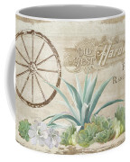 Western Range 4 Old West Desert Cactus Farm Ranch  Wooden Sign Hardware Coffee Mug