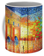 Western Wall Jerusalem Wailing Wall Acrylic Painting 2 Panels Coffee Mug