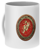 Western Zodiac - Golden Gemini - The Twins On White Leather Coffee Mug