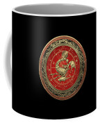 Western Zodiac - Golden Scorpio - The Scorpion On Black Velvet Coffee Mug
