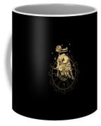 Western Zodiac - Golden Taurus - The Bull On Black Canvas Coffee Mug