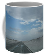 Wet Sand On Pensacola Beach Road Coffee Mug