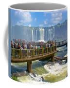 Wet Walkways In The Iguazu River In Iguazu Falls National Park-brazil  Coffee Mug