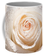 Wet White Rose Coffee Mug