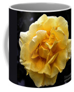 Wet Yellow Rose II Coffee Mug