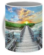 Wetland Marsh Sunrise Treasure Coast Florida Boardwalk A1 Coffee Mug