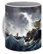 Whale Destroying Whaling Ship Coffee Mug