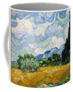 Wheatfield With Cypresses Coffee Mug