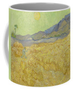 Wheat Field With Reaper At Wheat Fields Van Gogh Series, By Vincent Van Gogh Coffee Mug