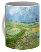 Wheat Fields After The Rain, The Plain Of Auvers Coffee Mug