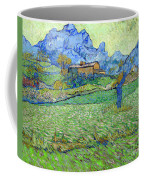 Wheat Fields In A Mountainous Landscape, By Vincent Van Gogh, 18 Coffee Mug